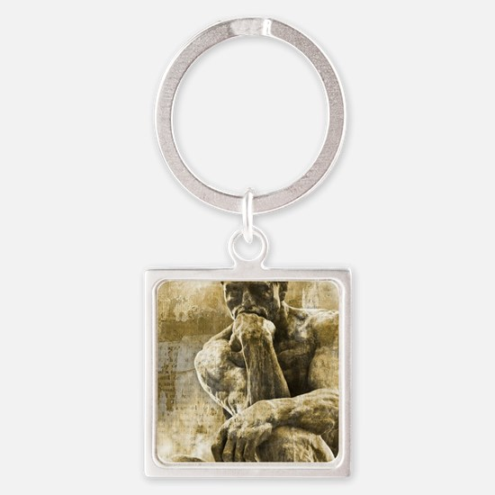 rustic Square Keychain