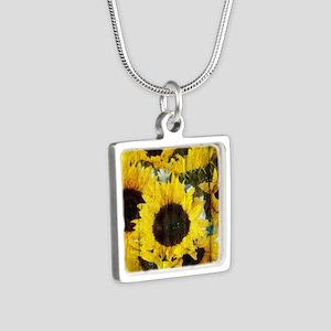 rustic Silver Square Necklace