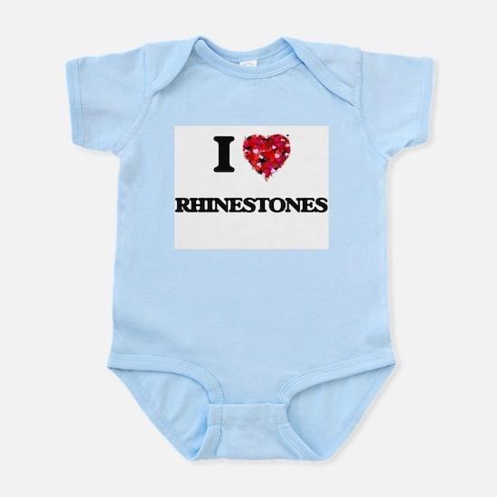 I Love Rhinestones Body Suit