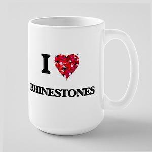 I Love Rhinestones Mugs