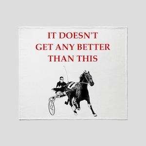 harness racing joke Throw Blanket