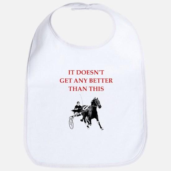 harness racing joke Bib