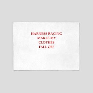 harness racing joke 5'x7'Area Rug