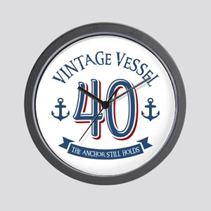 Nautical 40th Birthday Wall Clock