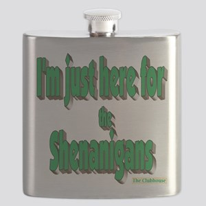 Just here for the shenanigans (green) Flask