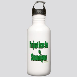 Just here for the shenanigans (green) Water Bottle