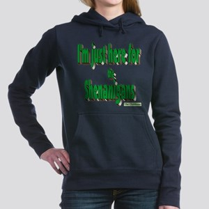 Just here for the shenanigans (green) Women's Hood