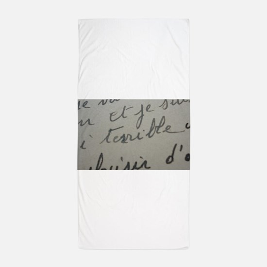 terrible text Beach Towel