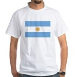 Flag of Argentina White T-Shirt