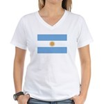 Flag of Argentina Women's V-Neck T-Shirt