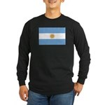 Flag of Argentina Long Sleeve Dark T-Shirt