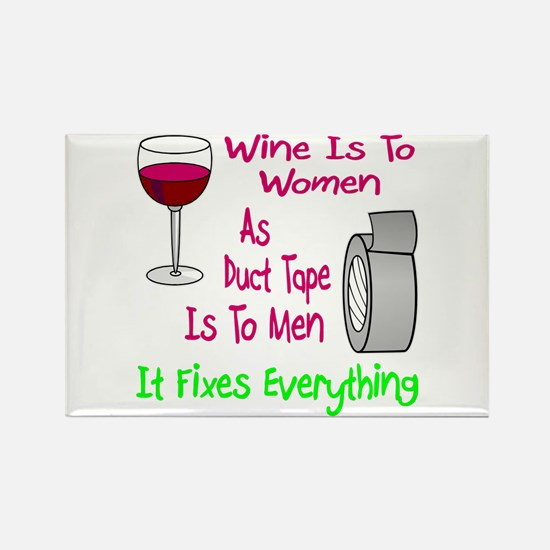 Wine Is To Women As Rectangle Magnet
