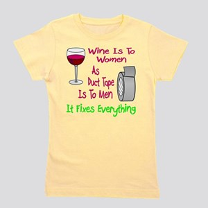 Wine Is To Women As Girl's Tee