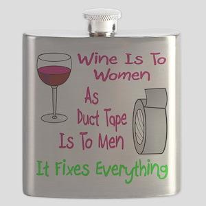 Wine Is To Women As Flask