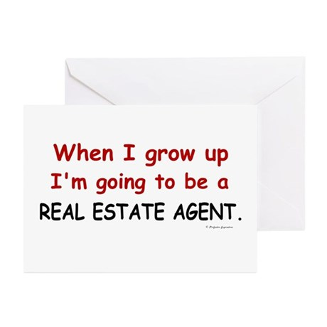 Real Estate Agent (When I Grow Up) Greeting Cards by