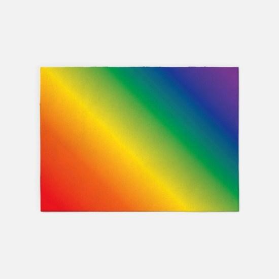 Rainbow 5'x7'Area Rug