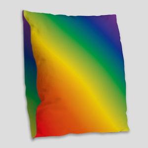 Rainbow Burlap Throw Pillow