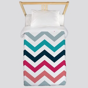 Pink & Blue Chevron Pattern Twin Duvet