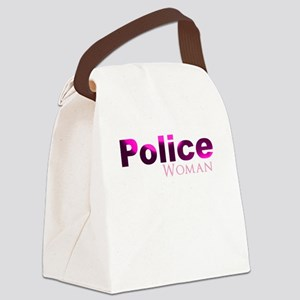 Police Woman Canvas Lunch Bag