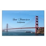 San Francisco Sticker (Rectangle 10 pk)