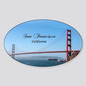 San Francisco Sticker (Oval)