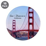 "San Francisco 3.5"" Button (10 pack)"