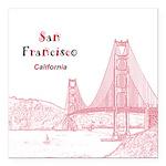 "San Francisco Square Car Magnet 3"" x 3"""