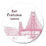 San Francisco Round Car Magnet