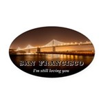 San Francisco Oval Car Magnet