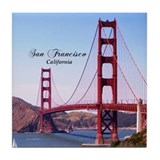 Golden gate bridge Tile Coasters