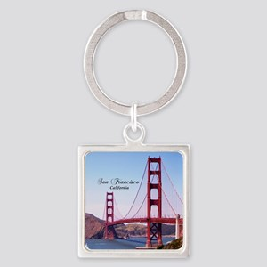 San Francisco Square Keychain