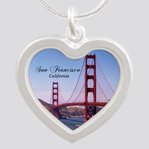 San Francisco Silver Heart Necklace