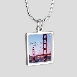 San Francisco Silver Square Necklace