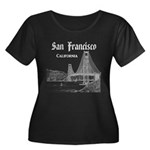 San Fran Women's Plus Size Scoop Neck Dark T-Shirt