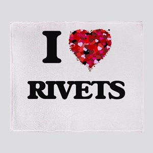 I Love Rivets Throw Blanket