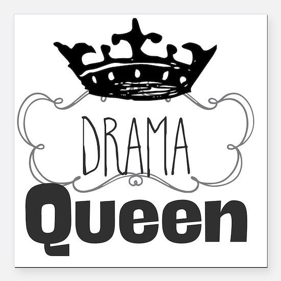 """Drama Queen Square Car Magnet 3"""" x 3"""""""