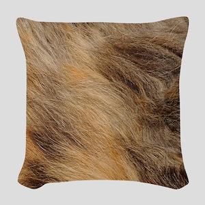 Fur Woven Throw Pillow