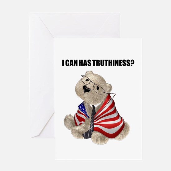 Truthiness Bear Greeting Card