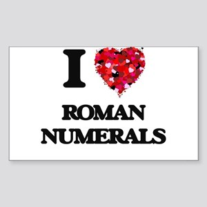 I Love Roman Numerals Sticker