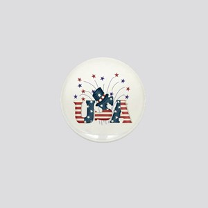 USA Fireworks Mini Button
