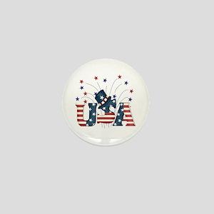USA Fireworks Mini Button