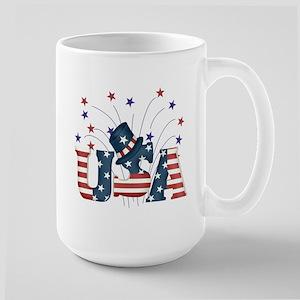 USA Fireworks Large Mug