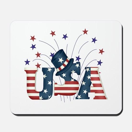 USA Fireworks Mousepad