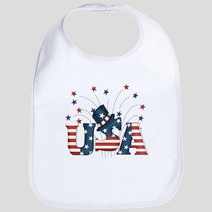 USA Fireworks Bib
