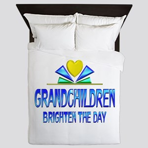 Grandchildren Brighten the Day Queen Duvet
