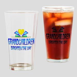 Grandchildren Brighten the Day Drinking Glass