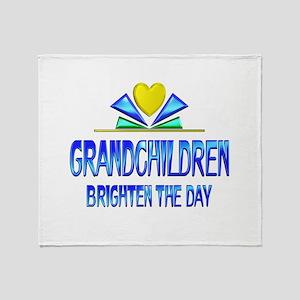 Grandchildren Brighten the Day Throw Blanket