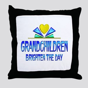 Grandchildren Brighten the Day Throw Pillow