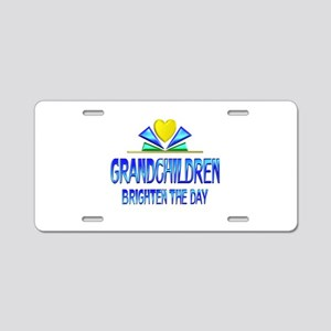 Grandchildren Brighten the Aluminum License Plate