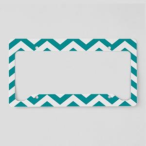Blue, Teal: Chevron Pattern License Plate Holder